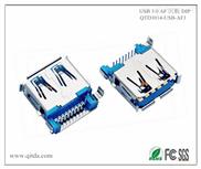 USB 3.0 AF 沉板 DIP 方脚 带卷边