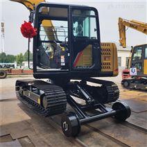 改装公铁两用挖掘机  改装铁路施工设备