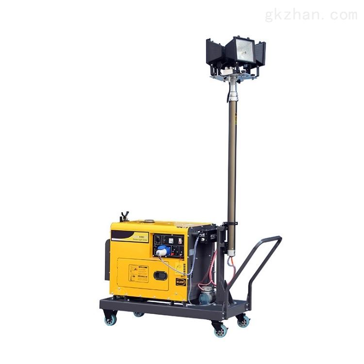 移动柴油发电机带照明灯车4x500W