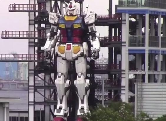 高18米现身横滨港!日本1比1还原高达机器人
