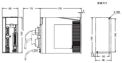 R88M-KE□-Z, R88D-KP□-Z 外形尺寸 4