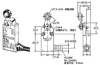 D4F 外形尺寸 1 D4F-□20-□R_Dim