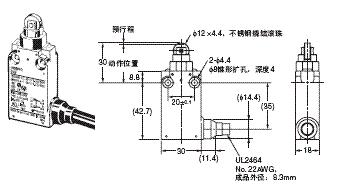 D4F 外形尺寸 2 D4F-□02-□R_Dim
