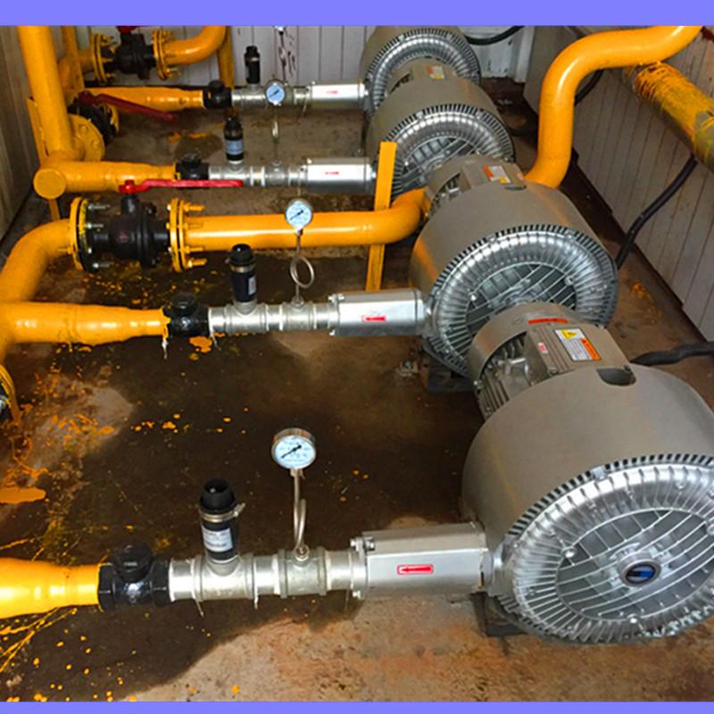 污水处理专用双段 双级高压风机 曝气用风机 化工废水曝气漩涡气泵示例图2
