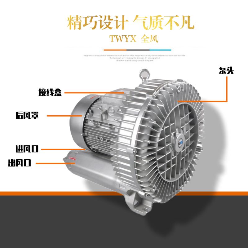 TWYX纸张吸附高压风机RB系列高压风机 YX系列旋涡气泵一体化污水曝气铸铝全风高压风机示例图4