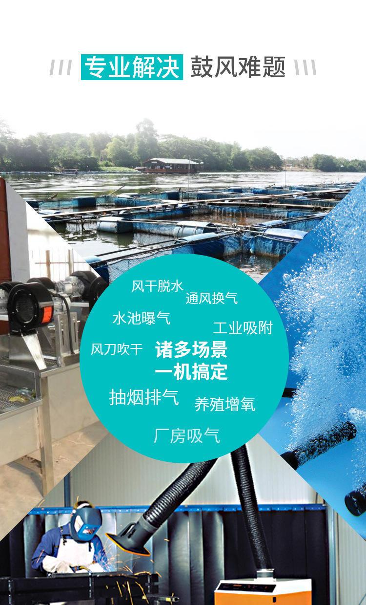 TWYX纸张吸附高压风机RB系列高压风机 YX系列旋涡气泵一体化污水曝气铸铝全风高压风机示例图6