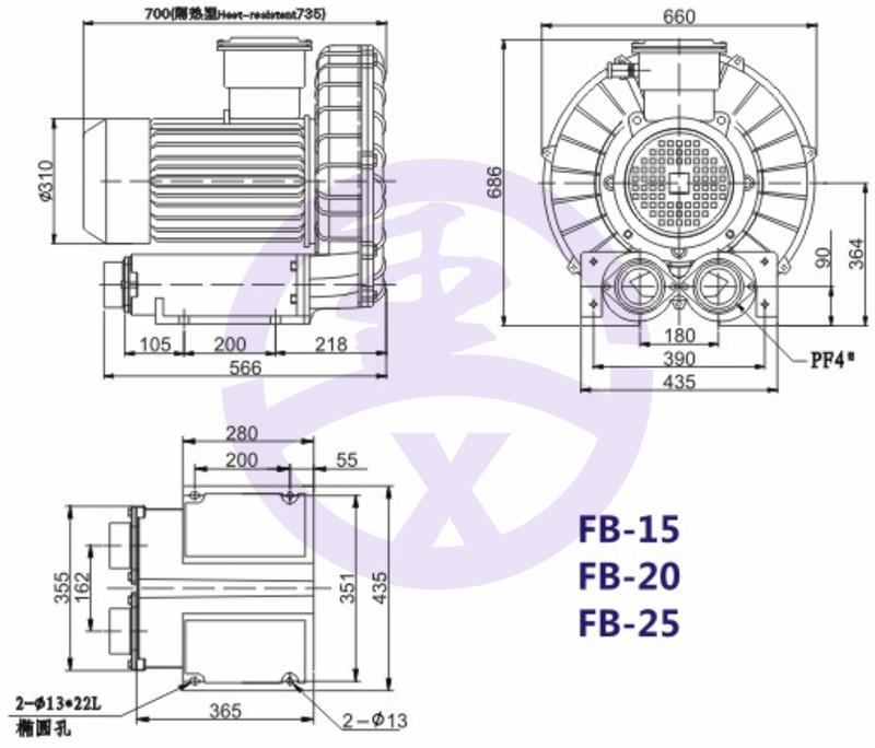 直销旋涡防爆高压风机 RB环形高压鼓风机  耐高温高压风机 旋涡防爆风机示例图12