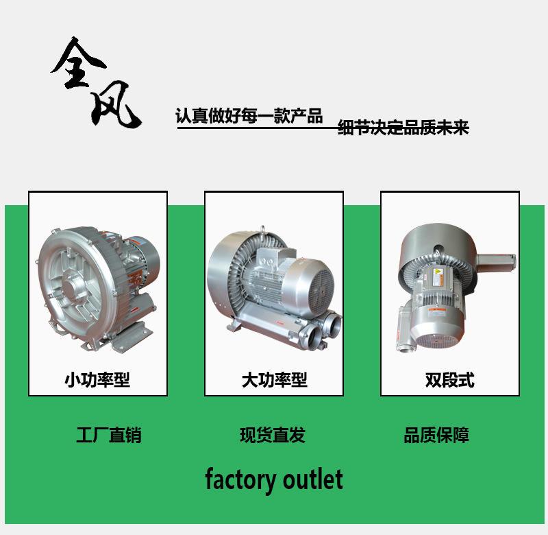 正品进口全风高压风机380v高压旋涡风机工业吸尘增氧专用气泵示例图1