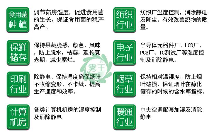 超声波加湿器可以应用的行业
