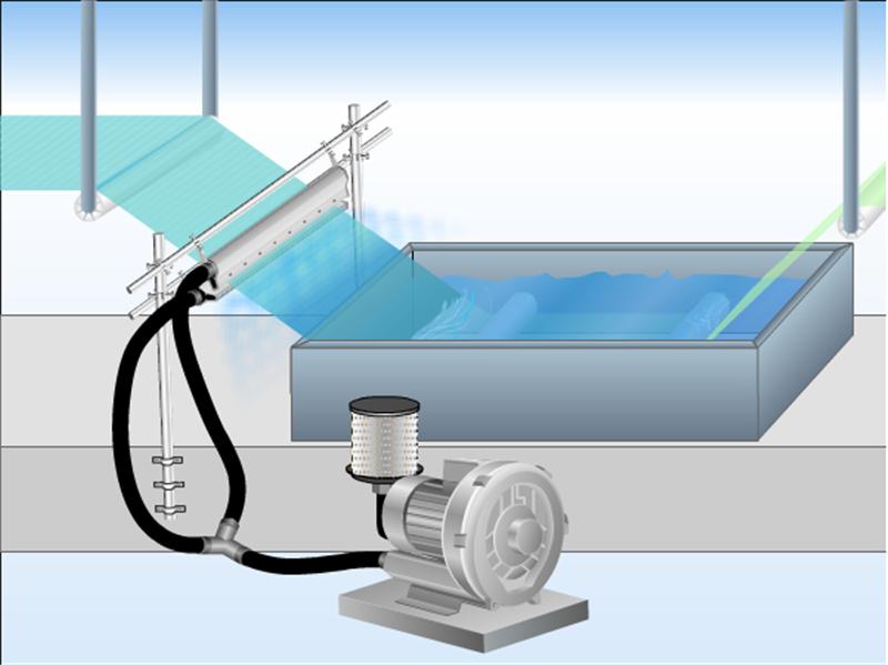 高精密铝合金风刀水滴式铝合金风刀玻璃吹水吹干风刀示例图11