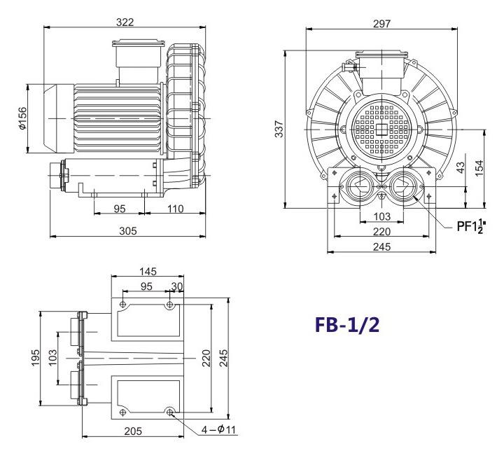 昆明防爆高压鼓风机 5.5KW防爆高压鼓风机 大量现货示例图12
