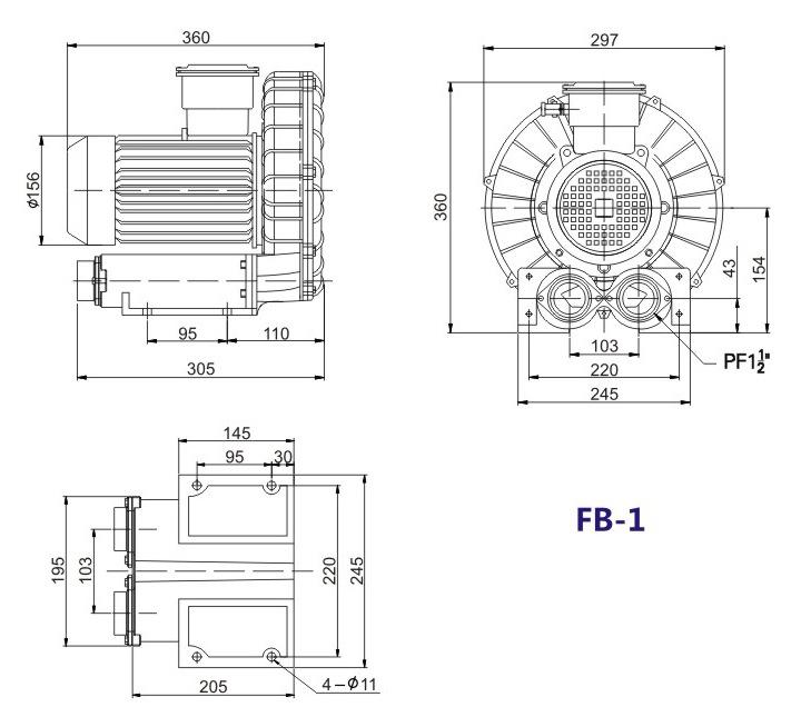 昆明防爆高压鼓风机 5.5KW防爆高压鼓风机 大量现货示例图13