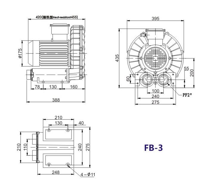 昆明防爆高压鼓风机 5.5KW防爆高压鼓风机 大量现货示例图15