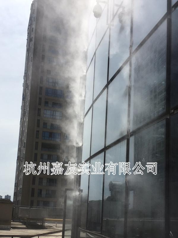 大型商场室外喷雾降温