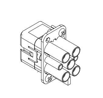 HQ-004/2-FC重载连接器,又名矩形接插件可直接兼容HAN Q4/2型号适用于西门子需要进行电力、电气和信号连接的设备中。